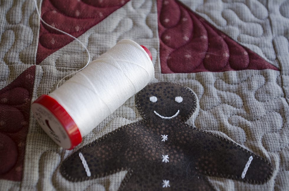 gingerbread wreath quilt
