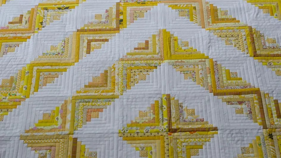 scrappy log cabin fabric