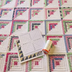 4-inch log cabin quilt foundation paper
