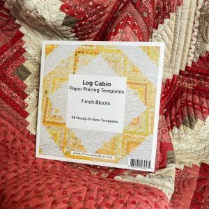 log cabin quilt block foundation paper