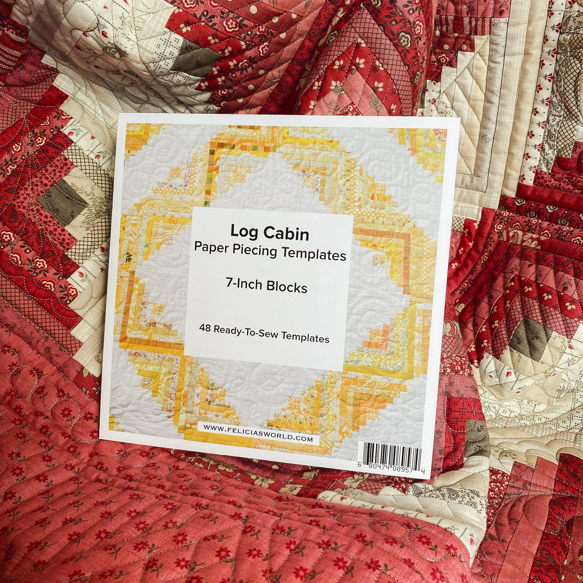 7 Inch Log Cabin Quilt Block Foundation Paper Felicia S World