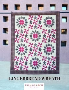 Gingerbread Wreath PD Quilting Pattern