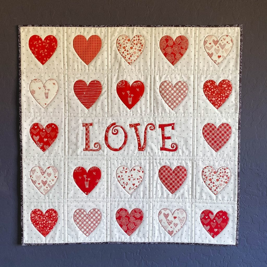 free valentines applique pattern