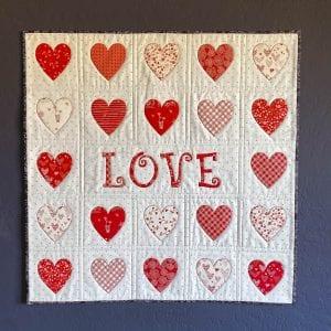 free valentines applique pattern