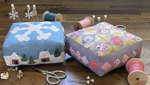 Quilted pincushion pattern